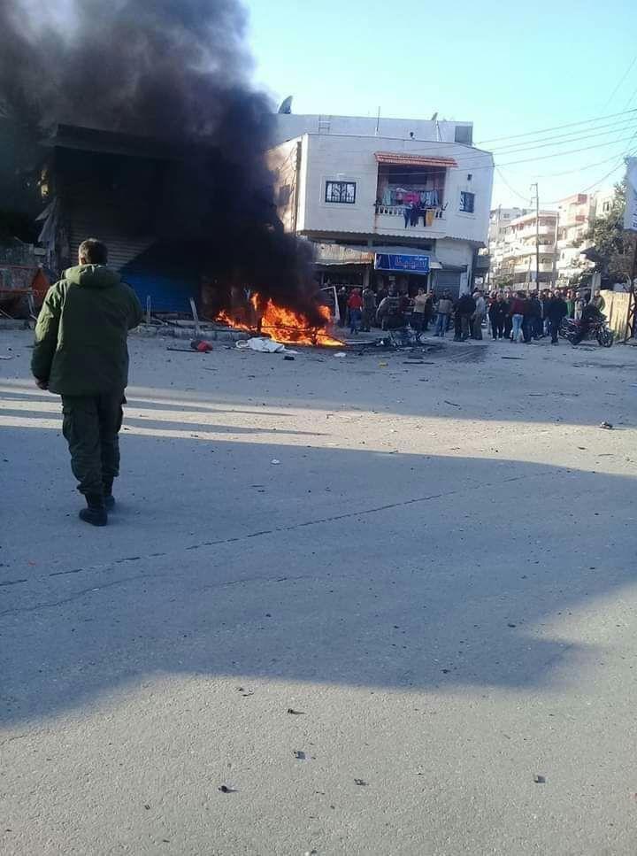 Photo of Civilian killed, 14 injured in explosion of car bomb in al-Hamam Square in Lattakia