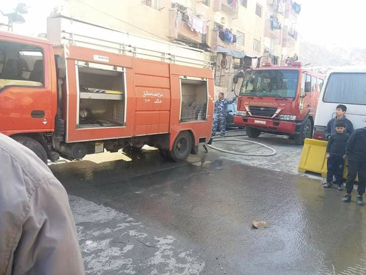 Photo of Fire extinguished at a house in Saroujah neighborhood, Damascus