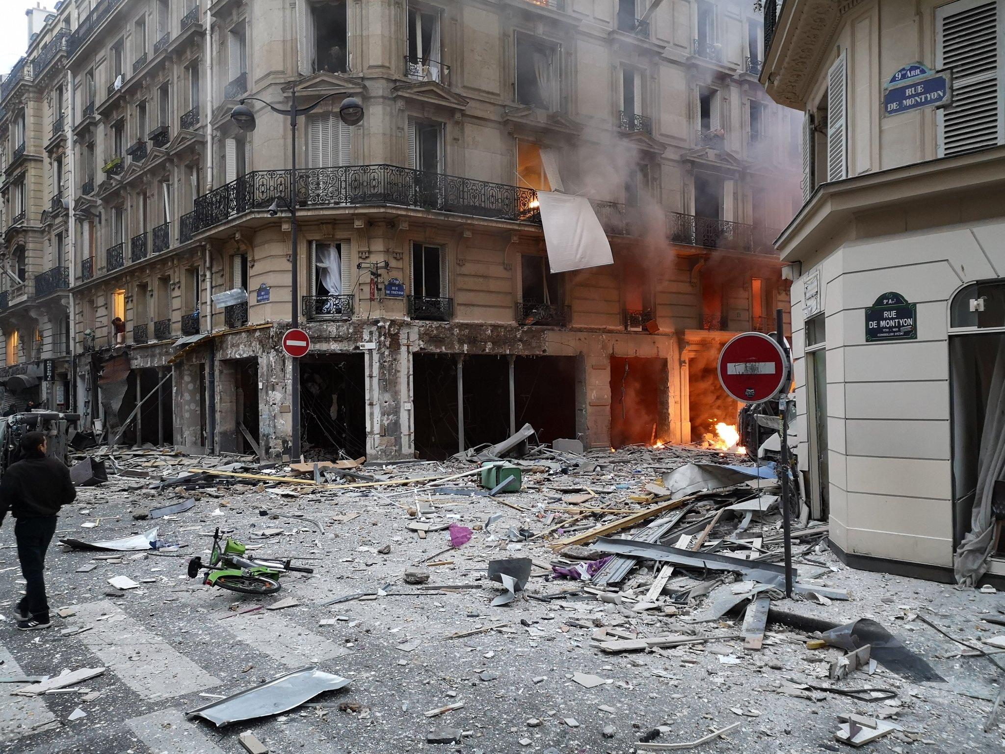 Photo of إصابة عدة أشخاص بانفجار داخل مخبز بالدائرة التاسعة وسط باريس