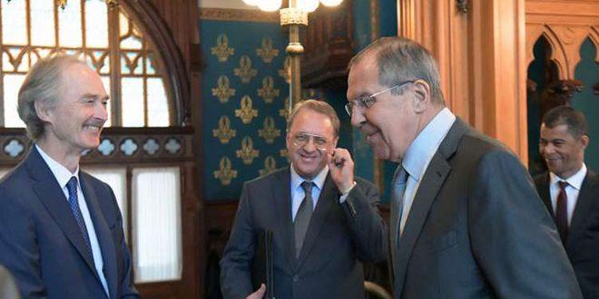 Photo of لافروف و بيدرسون بحثا القضاء على الارهاب بسوريا كٌلياً