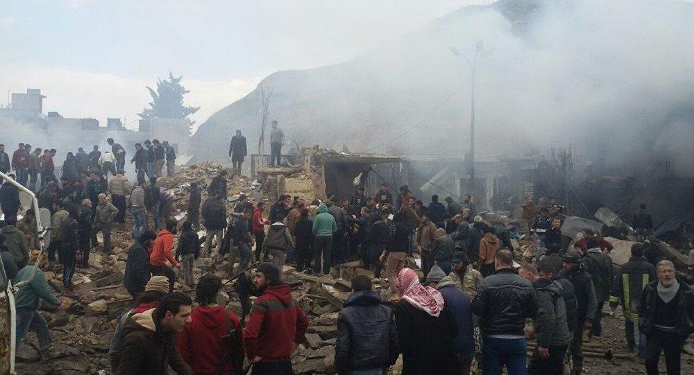 Photo of انفجار ضخم يضرب معبر على الحدود السورية التركي