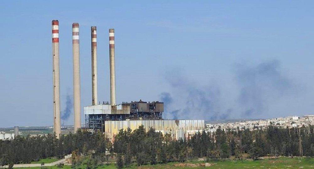 """Photo of الارهاب يقصف بـ ٢٠ قذيفة صاروخية""""محطة محردة"""" الكهربائية"""