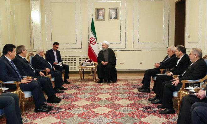 Photo of الرئيس روحاني لـ المعلم: الدعم لسوريا مستمر