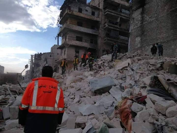 Photo of Seven persons die in a building collapse in Aleppo