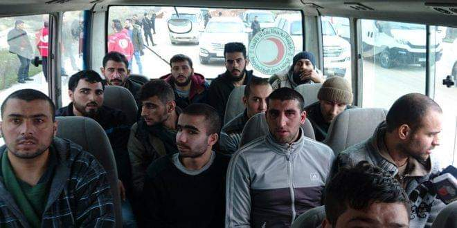 Photo of A group of kidnapped civilians liberated in eastern Aleppo