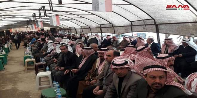 Photo of Popular event held in Qamishli in support of national unity