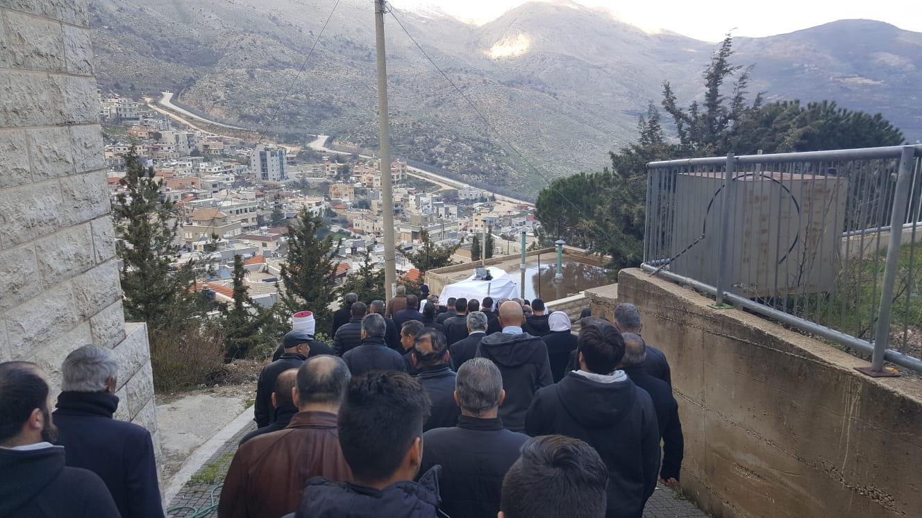 Photo of تشييع المناضل الجولاني أبو مجيد أحمد القضماني في مسقط رأسه في مجدل شمس