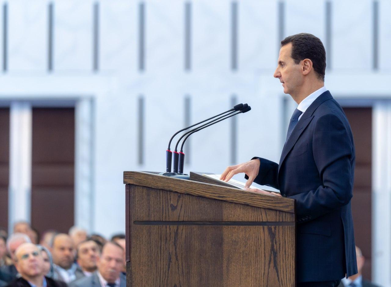 """Photo of كلمة الناصر المنتصر.. """"الأسد"""" لـ رؤساء المجالس المحلية : من حمى الوطن هو صمود الشعب"""