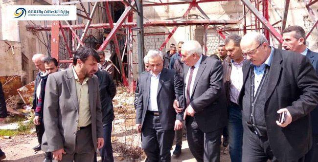 """""""وزير الاتصالات"""" يزور درعا للاطلاع على الواقع الخدمي"""