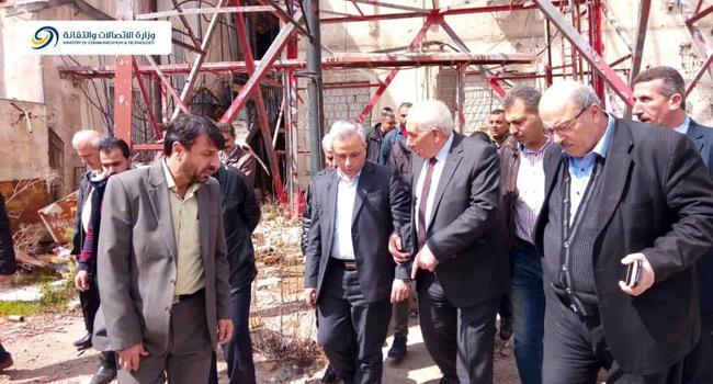 "Photo of ""وزير الاتصالات"" يزور درعا للاطلاع على الواقع الخدمي"