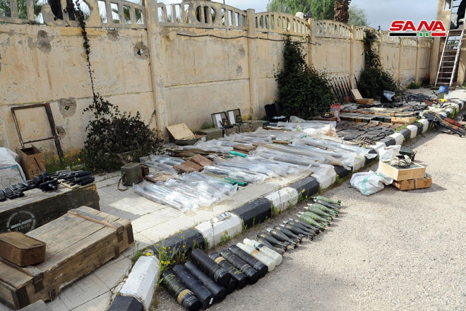 Photo of Israeli-made weapons discovered in Daraa countryside
