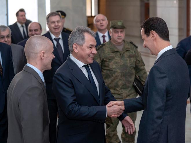 """Photo of الأسد لـ شويغو: التنسيق """"السوري-الروسي"""" بأعلى مستوى"""