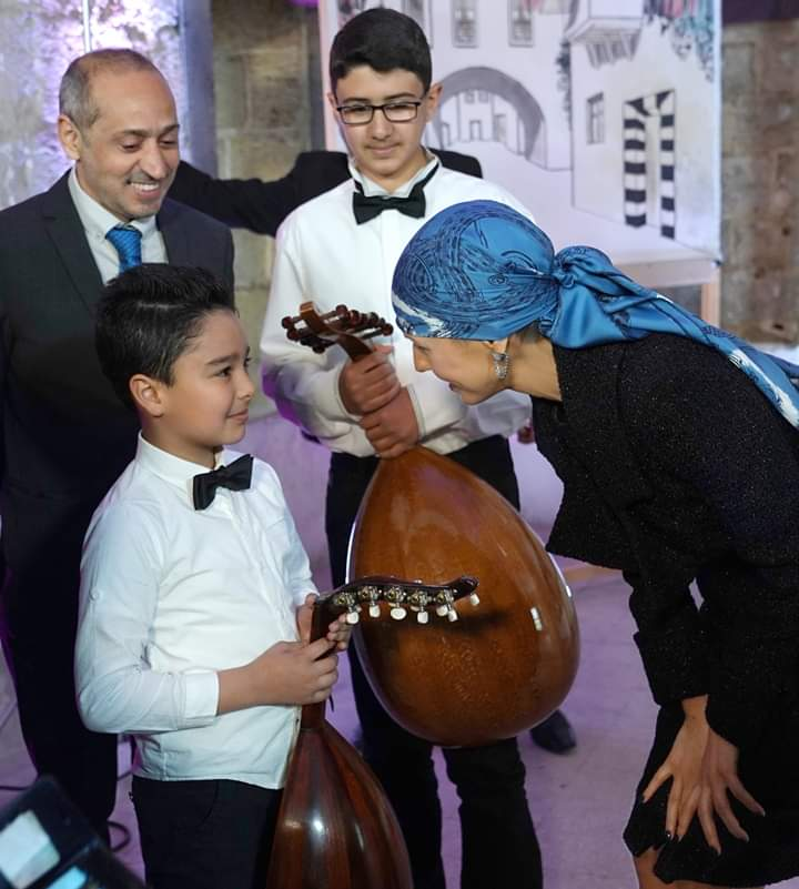 Photo of Attended by Mrs. Asma al-Assad, event celebrates inclusion of first Syrian element in Intangible Cultural Heritage list