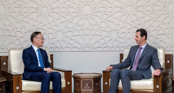 Photo of President al-Assad receives Chinese Assistant Minister of Foreign Affairs