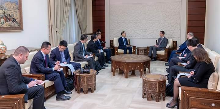 """Photo of """"وفد صيني"""" بضيافة الرئيس الأسد"""