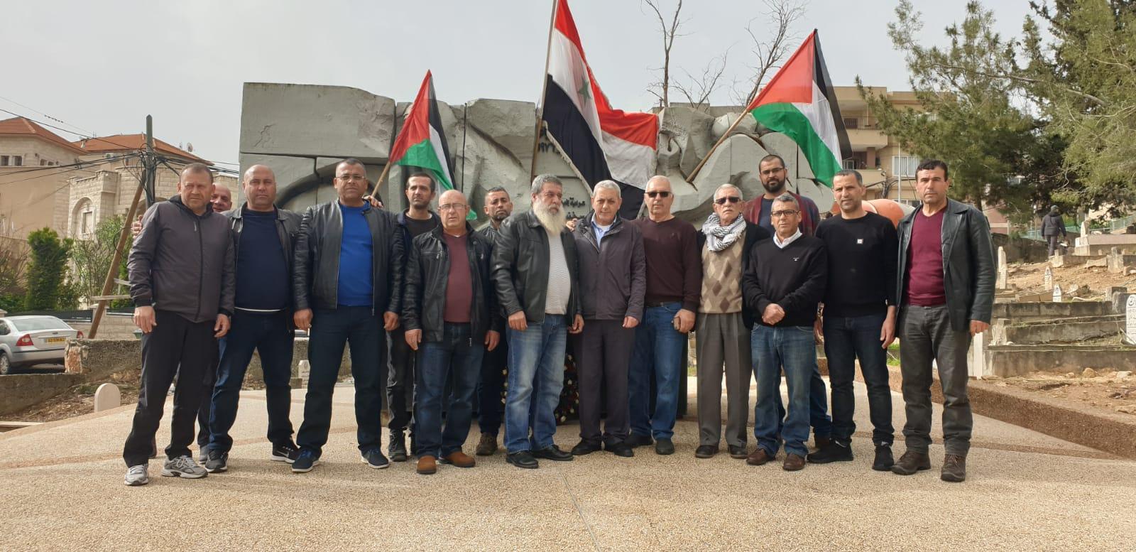 Photo of تقرير التلفزيون السوري – مشاركة واسعة في بلدة سخنين لاحياء يوم الارض