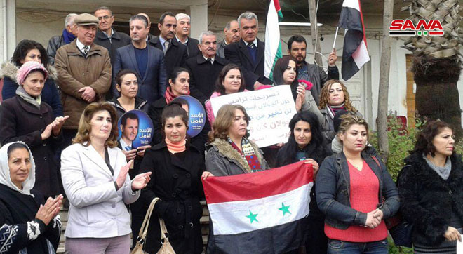 Photo of وقفات تضامنية بالسويداء تضامناً مع الجولان المحتل