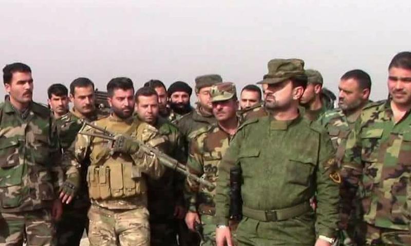 """Photo of بالفيديو- العميد """"سهيل الحسن""""في لقاء خطابي مع مقاتلي الجيش العربي السوري"""