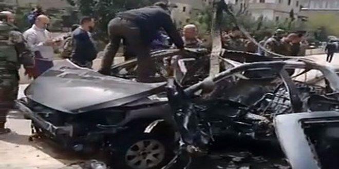 "Photo of استشهاد مدني بانفجار عبوة ناسفة بمنطقة ""نهر عيشة"" بدمشق"