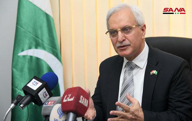 Photo of سفير باكستان بدمشق: ندين ممارسات الاحتلال الإسرائيلي في الجولان المحتل