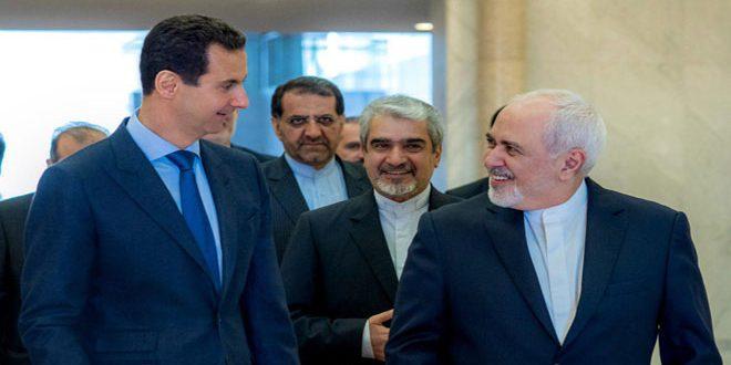 Photo of الرئيس الأسد لـ ظريف: سياسية أمريكا لن تُثني إيران وسوريا عن مواصلة الدفاع عن حقوق شعوبها ومصالحها