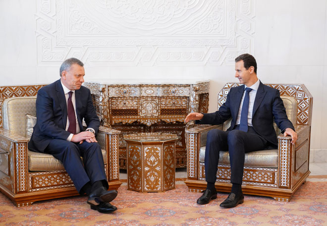 Photo of الأسد يلتقي نائب رئيس الوزراء الروسي في سوريا