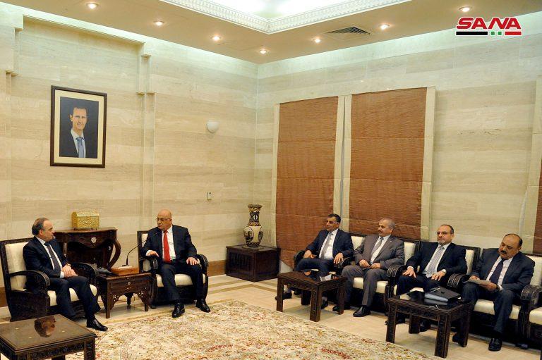 """Photo of مباحثات """"سورية – عراقية"""" لتطوير العلاقات الاقتصادية والاستثمار"""