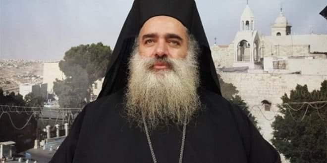 Photo of Archbishop Hanna: Zionist aggression on Syria targets Palestine's just cause