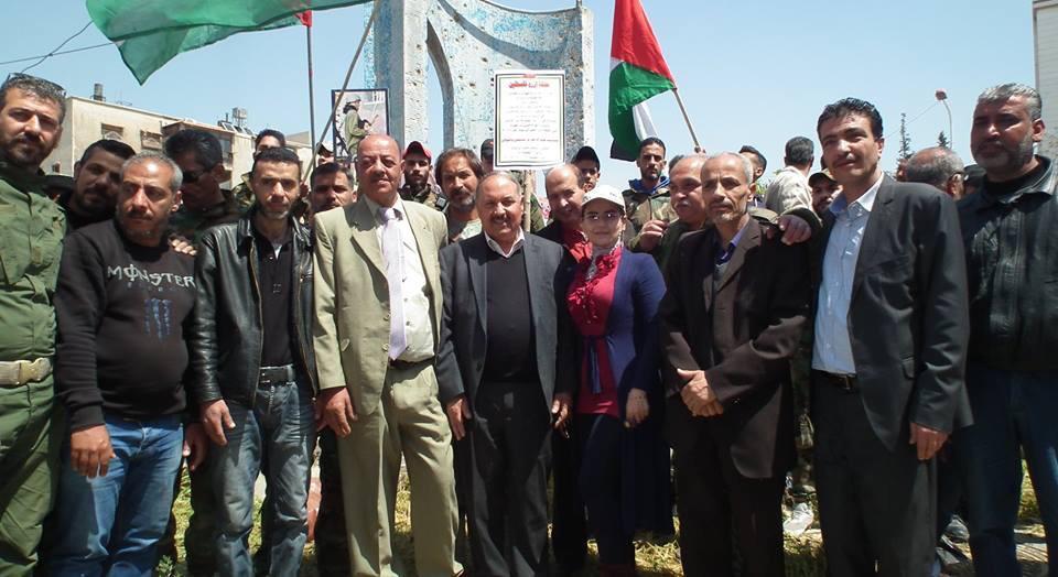 """Photo of حملة """"ازرع فلسطين""""عند مدخل مخيم اليرموك تخليدا لشهداء مسيرات العودة"""