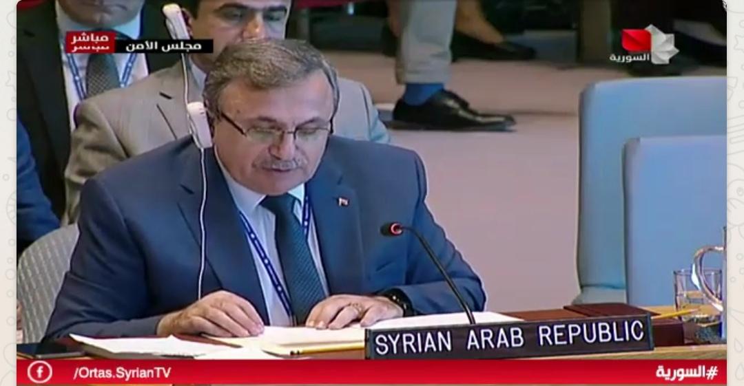 Photo of كلمة القائم بالأعمال بالنيابة لوفد سورية الدائم في جلسة مجلس الامن