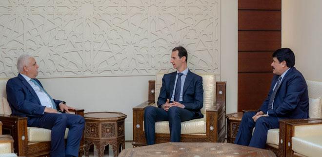 Photo of مستشار الأمن الوطني العراقي بضيافة الرئيس الأسد