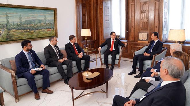Photo of الرئيس الأسد لـ أرياسا: ما يحصل في فنزويلا مشابه لما حصل في سورية
