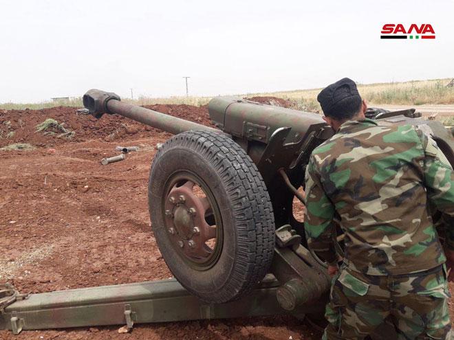 Photo of الجيش يستهدف أليات لإرهابيي النصرة على محاور الهبيط وكفرنبودة بريف حماة