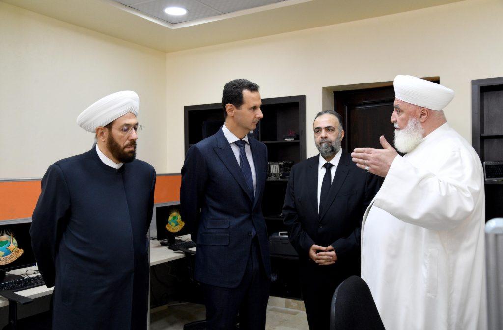 Photo of الرئيس الأسد يفتتح مركز الشام الإسلامي الدولي لمواجهة الإرهاب والتطرف التابع لوزارة الأوقاف