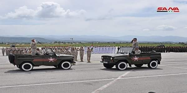 Photo of A military parade marking victory over Nazism held at Hmeimim airbase