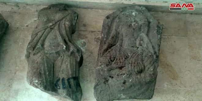 Photo of Daraa Antiquities Department recovers two archeological artifacts stolen from Quneitra National Museum