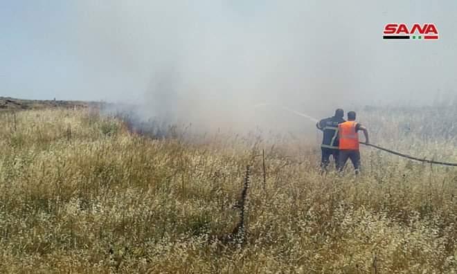 Photo of إخماد حريق في مزارع الأمل بريف القنيطرة
