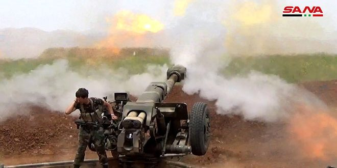 Photo of تدمير منصات إطلاق صواريخ للإرهابيين بريفي حماة وإدلب