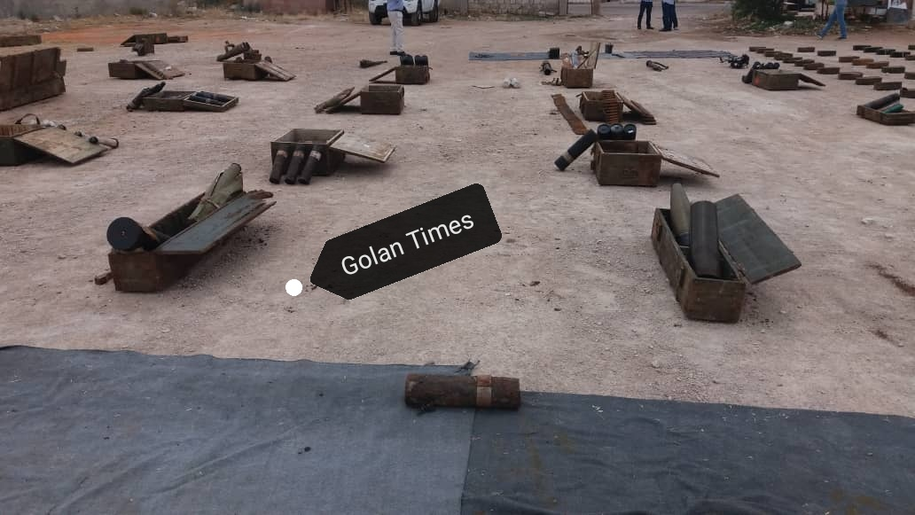 Photo of The competent authorities find weapons, ammunition and drugs in Quneitra
