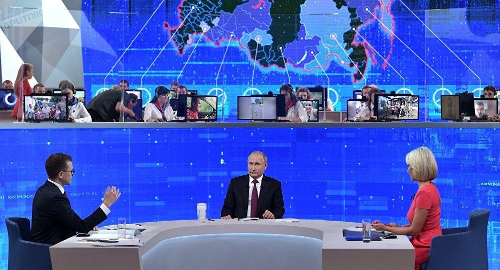 "Photo of ""بوتين""رداً على سؤال حول ""صفقة مع الولايات المتحدة"" بشأن سوريا: روسيا لا تتاجر بالحلفاء أو المبادئ"
