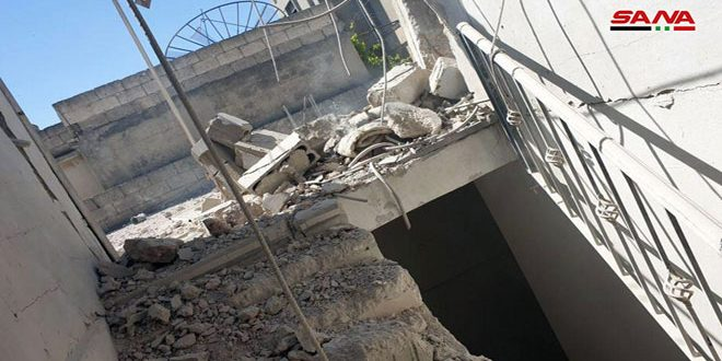 "Photo of استشهاد مدني وإصابة أخرين بقصف إرهابي على بلدة ""شيرز"" بريف حماة"