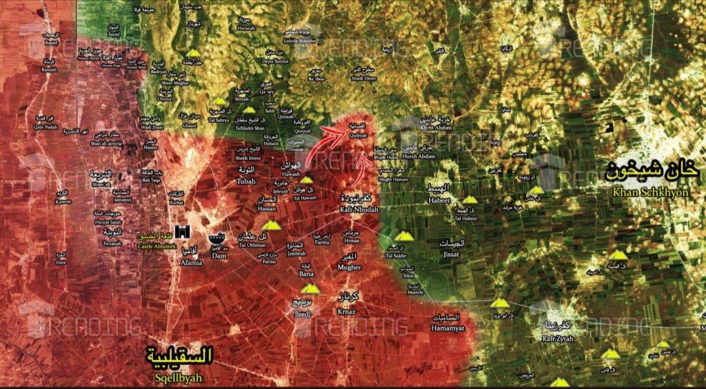 """Photo of خريطة تقدم الجيش بعد تحرير  """"القصابية"""" بريف ادلب"""