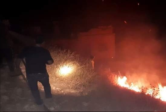 Photo of Israeli occupation authorities commit arson in occupied Golan that extended to liberated areas