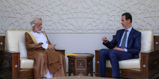"""Photo of وفد """"عُماني"""" يزور دمشق ويلتقي الرئيس الأسد"""