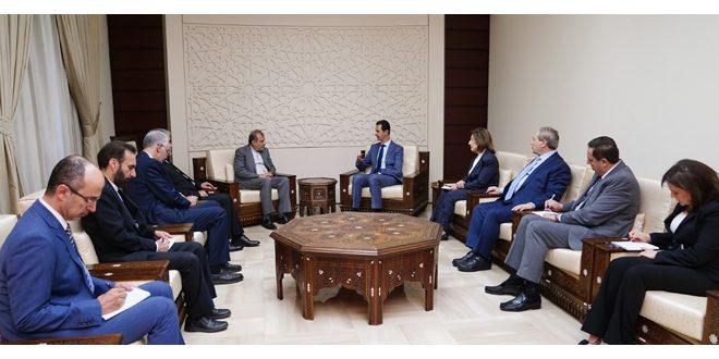 Photo of وفد إيراني بضيافة الرئيس الأسد.. وتأكيد على عمق العلاقة التي تربط سوريا وإيران