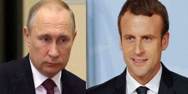 Photo of Putin, Macron discuss situation in Syria
