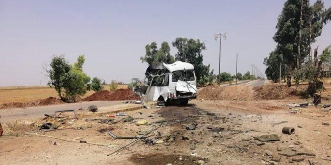 5 شهداء بتفجير إرهابي استهدف سيارة عسكرية في درعا