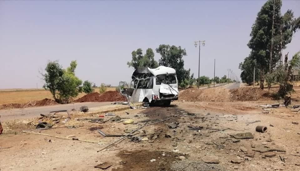 Photo of 5 شهداء بتفجير إرهابي استهدف سيارة عسكرية في درعا