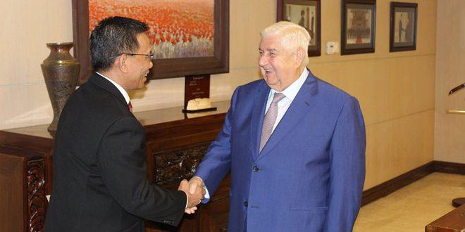 """Photo of المعلم يستقبل سفير """"إندونيسيا"""" الجديد"""