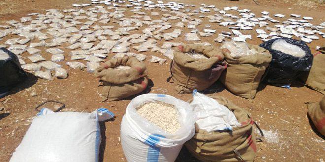 Photo of ضبطت الجهات المختصة كميات كبيرة من المواد المخدرة في درعا